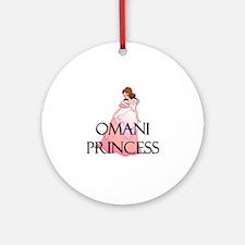 Omani Princess Ornament (Round)