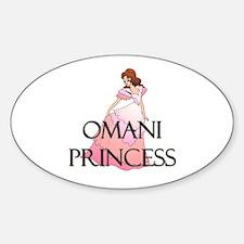 Omani Princess Oval Decal