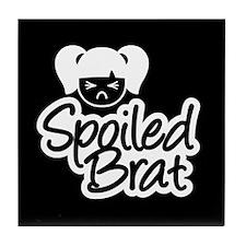 Spoiled Brat - Black Tile Coaster