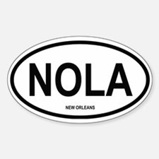 New Orleans Oval Decal