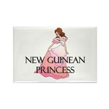 New Guinean Princess Rectangle Magnet