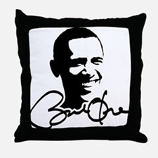 Obama Autographed Picture Throw Pillow