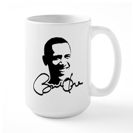 Obama Autographed Picture Large Mug