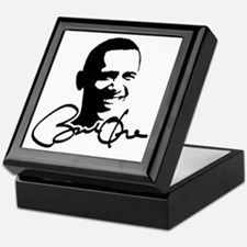 Obama Autographed Picture Keepsake Box