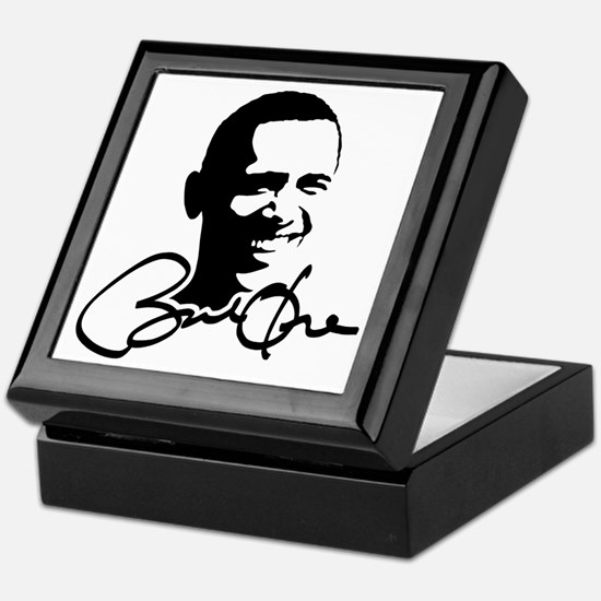 Obama Autographed Picture Keepsake Box