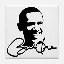 Obama Autographed Picture Tile Coaster