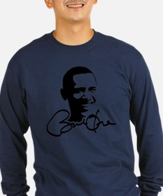 Obama Autographed Picture T