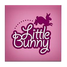 Little Bunny - Pink Tile Coaster