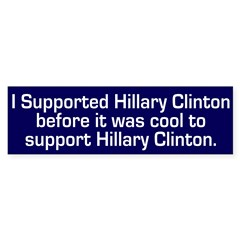 I Supported Hillary Clinton car sticker