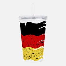Wavy German Flag Grung Acrylic Double-wall Tumbler