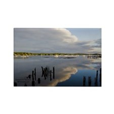 Wiscasset Sunset Rectangle Magnet