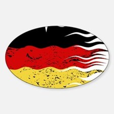 Wavy German Flag Grunged Decal