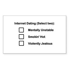 Internet Dating (choose two) Rectangle Decal