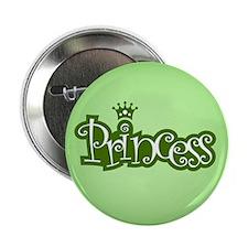 """Princess - Green 2.25"""" Button"""