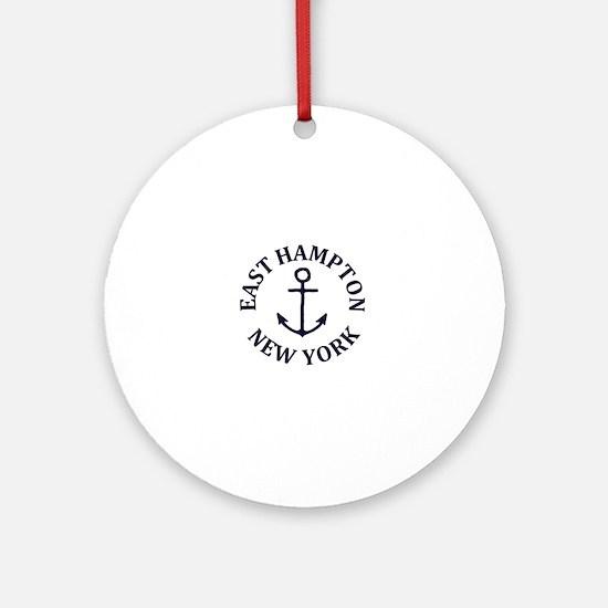 Funny Hamptons Round Ornament