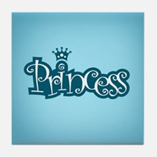 Princess - Blue Tile Coaster