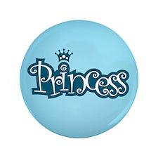 "Princess - Blue 3.5"" Button"
