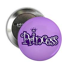 "Princess - Purple 2.25"" Button"