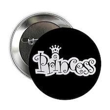 "Princess - Black 2.25"" Button (10 pack)"