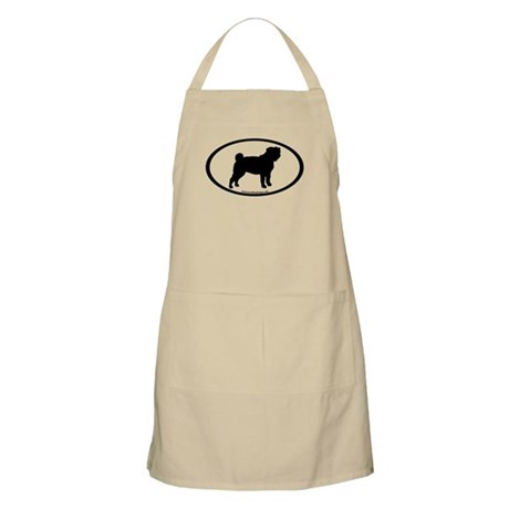 Pug Oval BBQ Apron