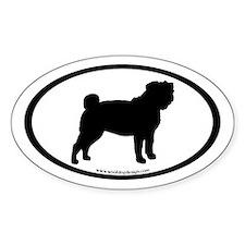 Pug Oval Oval Decal