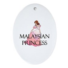 Malaysian Princess Oval Ornament