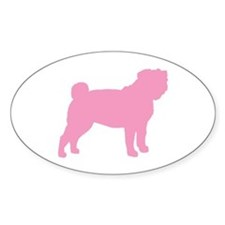 Pink Pug Oval Decal