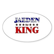 JAEDEN for king Oval Decal