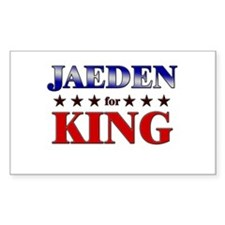 JAEDEN for king Rectangle Decal