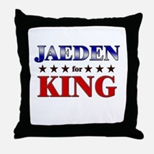 JAEDEN for king Throw Pillow