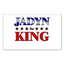 JADYN for king Rectangle Decal