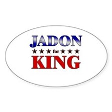 JADON for king Oval Decal