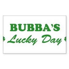 BUBBA - lucky day Rectangle Decal