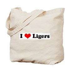 I Love Ligers Tote Bag