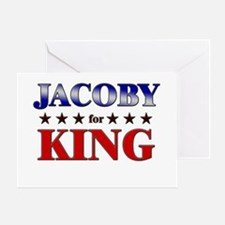 JACOBY for king Greeting Card