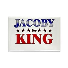 JACOBY for king Rectangle Magnet
