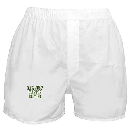 Raw Just Tastes Better Boxer Shorts