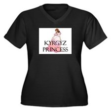 Kyrgyz Princess Women's Plus Size V-Neck Dark T-Sh