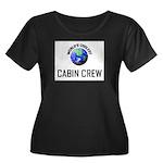 World's Coolest CABIN CREW Women's Plus Size Scoop