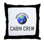 World's Coolest CABIN CREW Throw Pillow