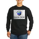 World's Coolest CABIN CREW Long Sleeve Dark T-Shir