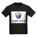 World's Coolest CABIN CREW Kids Dark T-Shirt