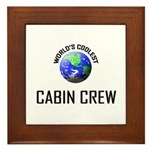 World's Coolest CABIN CREW Framed Tile