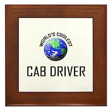 World's Coolest CAB DRIVER Framed Tile