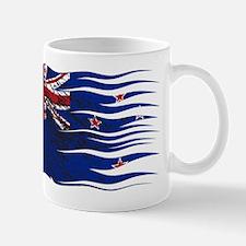 Wavy Zealand Flag Grunged Mugs