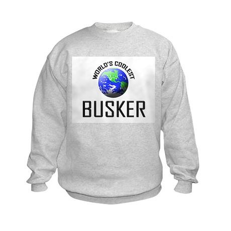 World's Coolest BUSKER Kids Sweatshirt