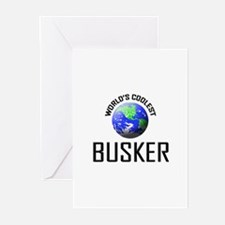 World's Coolest BUSKER Greeting Cards (Pk of 10)