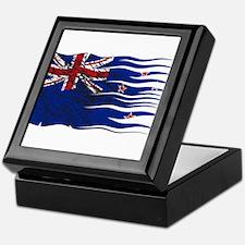 Wavy Zealand Flag Grunged Keepsake Box