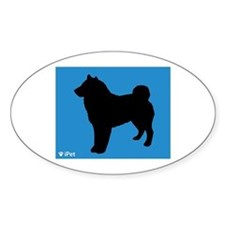 Sheepdog iPet Oval Decal