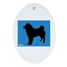 Sheepdog iPet Oval Ornament